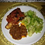 Salad, stew, eggplant
