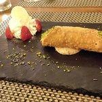 Cannolo di mousse di castagne