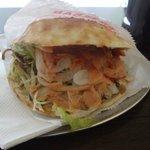 Excellent chicken Kebab in bread pocket