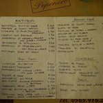 vasto menu...
