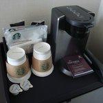 Starbucks coffee in room (free)