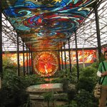 Dentro del Jardín Botánico.