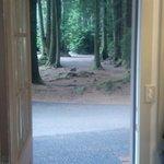 from the door