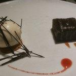 Postre de chocolate y vainilla
