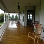 Wide sweeping porch