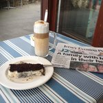 Great latte and beetroot and chocolate cake. Yum!