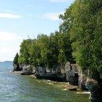 Along the shoreline of Lake Michigan