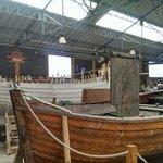 """bateau à clin en cours de construction, le """"St Michel"""""""