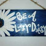 Hand painted wall plaque