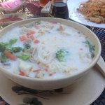 Thai coconut soup, needs fish sauce!