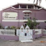 The entrance to the Goan Heritage Hotel