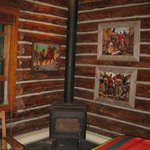 Wood stove in the Bear's Den