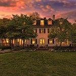 Backyard sunset at 10 Fitch