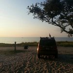 looking towards Pamlico Sound from our camp site.