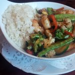 Asian Stir Fry with shrimp