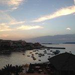 Ausblick auf Meer und Bucht bei Dämmerung - fantastisch !