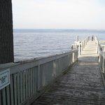 Their dock on Lake Cayuga.