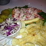 the lobster rolls were delicious, the cole slaw dressing unique!  The owner Connie gave us excel