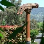Tig Crowley's Water Hammer adorns the garden