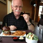 My husband with the best hamburger in the world!