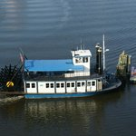 The paddlewheel ferry, taken out the window