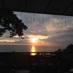 Sunset from Restaurant at Upper Pool