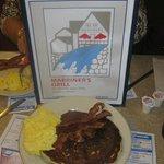 Blueberry pancake breakfast.  Marriner's Restaurant, Camden, ME