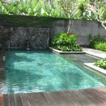 Our private pool within our villa