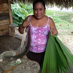 visit to mayan village to see handmade baskets made by palm trees