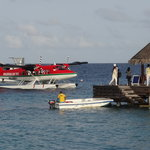 guest arriving by sea plane