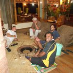 drinking Yaqona with Friend Mr. Davis Epeli and Arthur