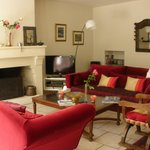 The lovely living area available to guests