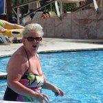 Pool a bit cool.