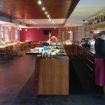 Salle de restaurant et à manger accueillantee