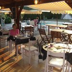 restaurant terrace poolside