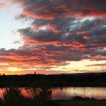 vue du lac le soir
