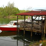 Jetty and boat for sea transfers