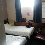 Bedroom on departure.