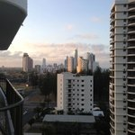 view back to surfers paradise