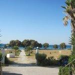 Blick vom Hotel Richtung Strand