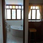 Room, bathroom and kitchenette
