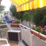 Le balcon de la chambre N°4 côté bastion du Pêcheur