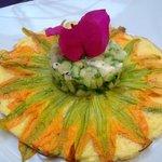 Brreakfast omelette with zuchinni flowers