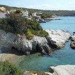 Nearby rocky beach