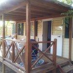 La veranda esterna delle case comfort