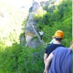 Climbing near millau
