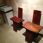 Bizarre chairs in the Men's Room @ Kudeta, 27 Temple Street, New Haven, CT