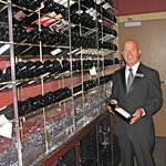 Maitre de Tommy Walker in the wine room.