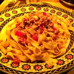 Tuscan white meat sauce - yum!