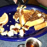 Really yummy French toast and sausage links